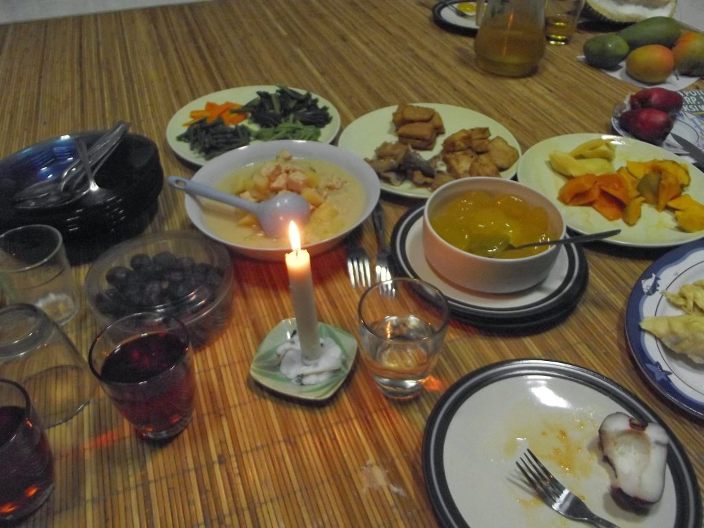 Typical meal at Ramadan breaking the fast