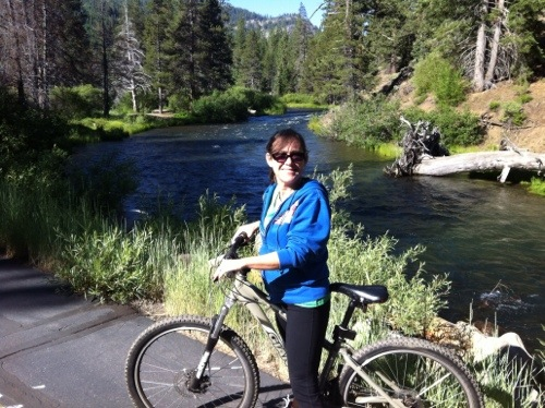 Tahoe City bike trail to Squaw Valley