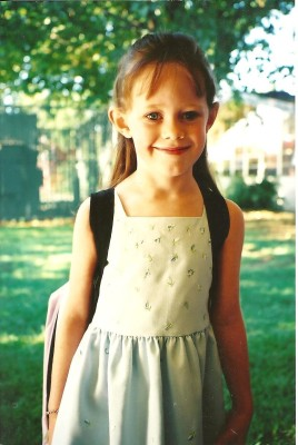 Lily at 5, preparing for kindergarten