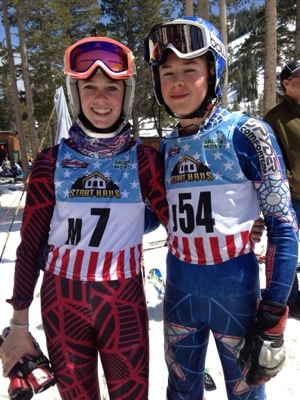 L and C ski race at Alpine Meadows