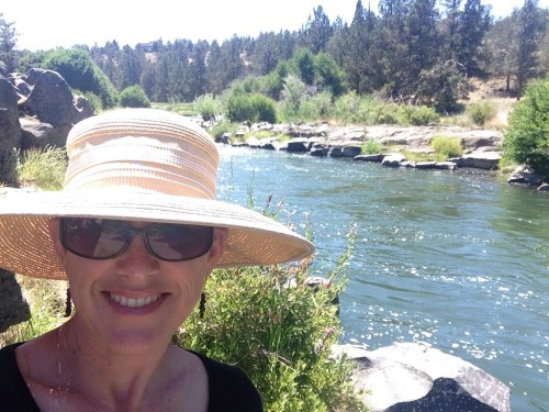 Deschutes River, watching the swimmers.