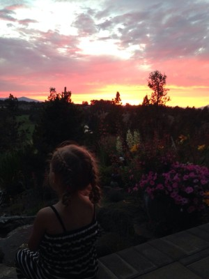 Sadie at sunset in Bend, Oregon