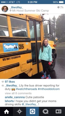 L is a licensed bus driver!